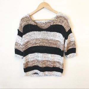River Island open weave striped sweater Sz 4